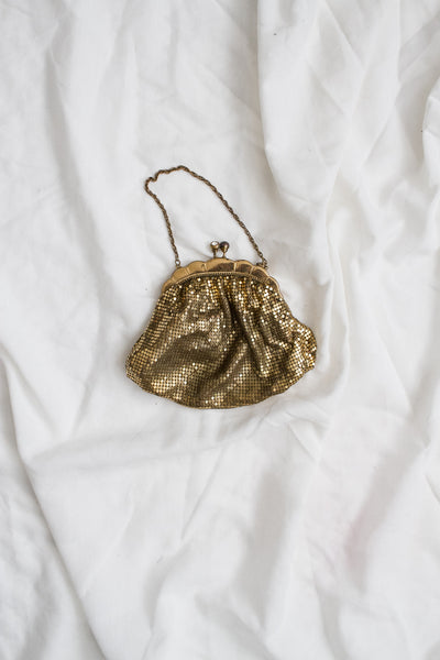 1920s Gold Metal Mesh Purse