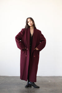 1980s Christian Dior Berry Wool Coat
