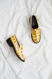 1980s Yellow Gator Patent Loafers | 7