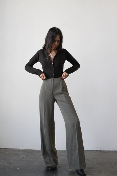 1990s Emporio Armani Wool Trouser Set
