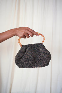 1950s Speckled Woven Glitter Handled Purse
