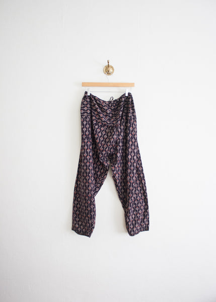 Dark Violet Indian Block Print Herem Pants