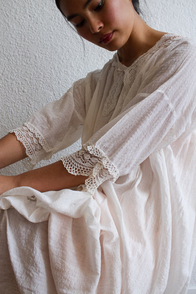Edwardian Cotton Crochet Trim Dress