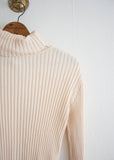 Cream Ribbed Turtleneck