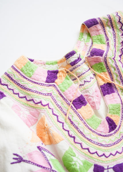 Tropic Mexican Oaxacan Embroidered Tunic
