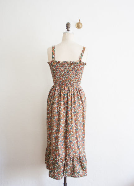 Chestnut Liberty Print Smock Dress