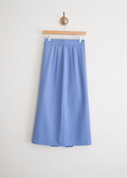 Cerulean Virgin Wool Tube Skirt