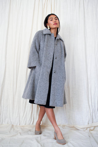 1960s Grey Mohair Swing Coat