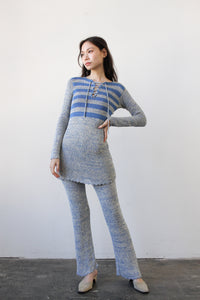 1960s Blue Space Knit Lounge Set