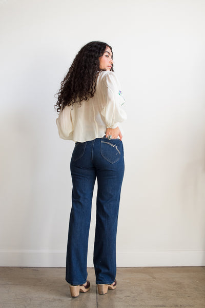 1960s Maverick Dark Denim Jeans
