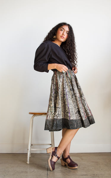 1950s Mexican Sequin Circle Wrap Skirt