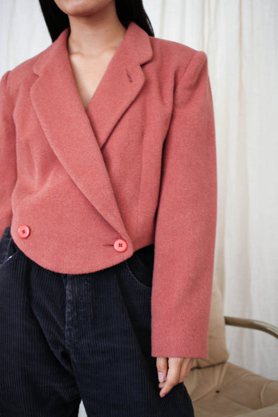 1980s Wool Short Rose Blazer