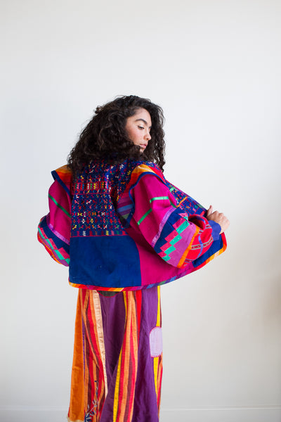 1980s Reworked Guatemalan Patchwork Jacket