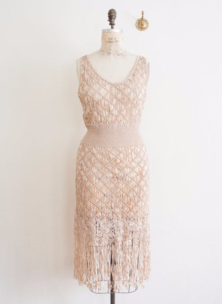 Rose Champagne Knotted Dress