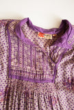Violet Gauzy Indian Cotton Print Dress