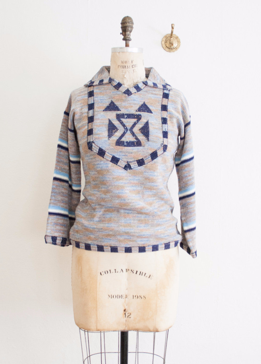 Indigo Space Dyed Pullover Sweater