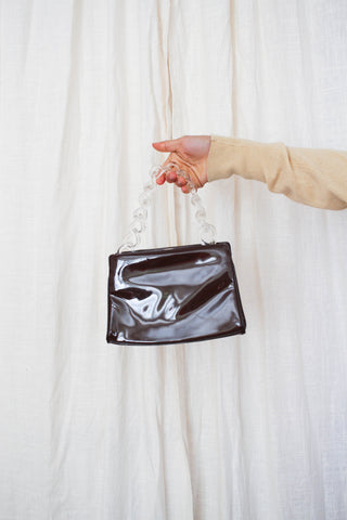 1960s Patent Leather Chain-link Handbag