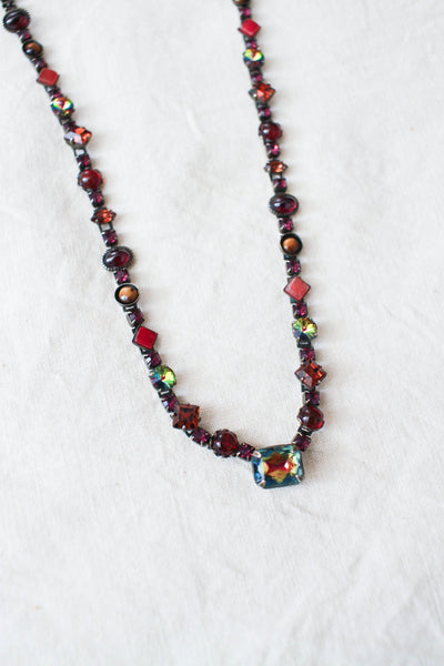 1950s Ruby Red Gemstone Necklace