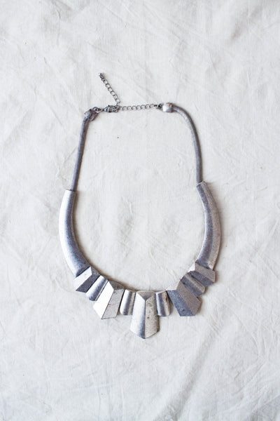 1980s Silver Plated Roman Style Necklace
