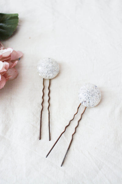1920s Starry Glitter Brass Hair Pins
