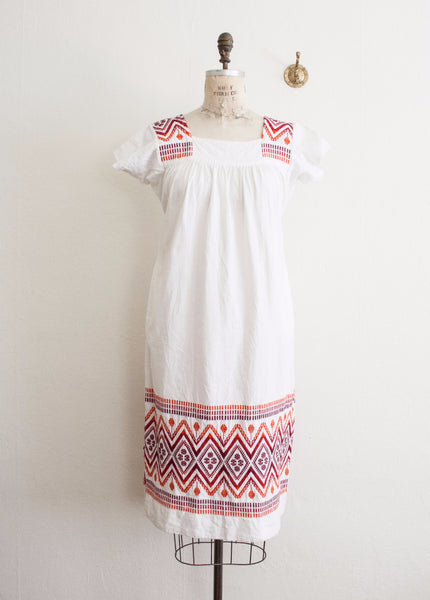 Ombre Embroidered Guatemalan Dress