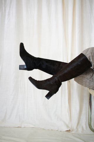 1980s Yves Saint Laurent Cowhide Boots | 9