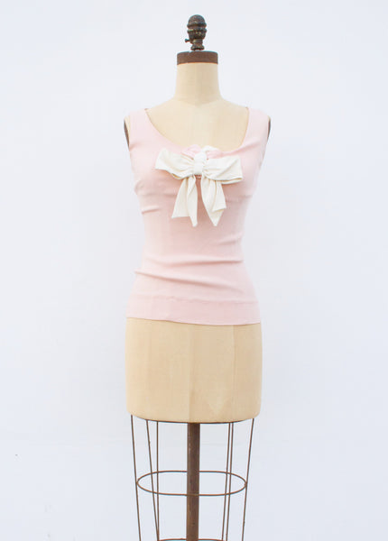 1980s Moschino Crepe Bow Top