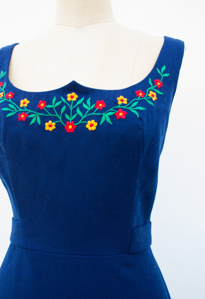 1960s Lanz Embroidered Dress
