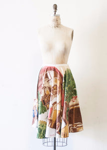 Cityscape Motif Circle Skirt