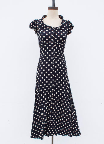 1990s Betsy Johnson Polka Dot Dress