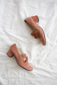 1950s Blush Suede Shoes | 7.5