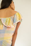 1930s Pastel Plaid Chiffon Dress