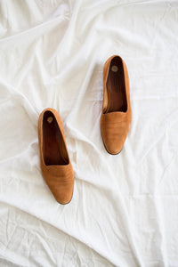 1980s Coach Desert Brown Ultra suede Loafers | 9.5