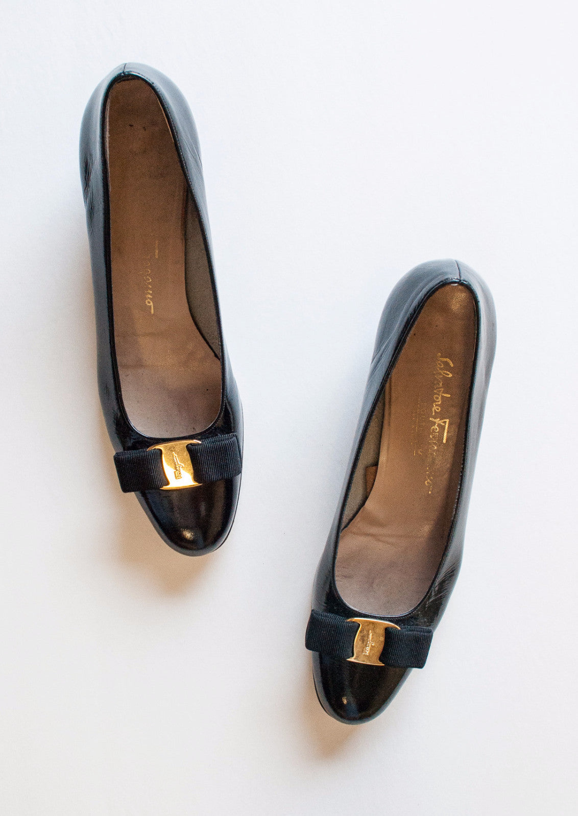 Patent Leather Ferragamo Bow Loafers