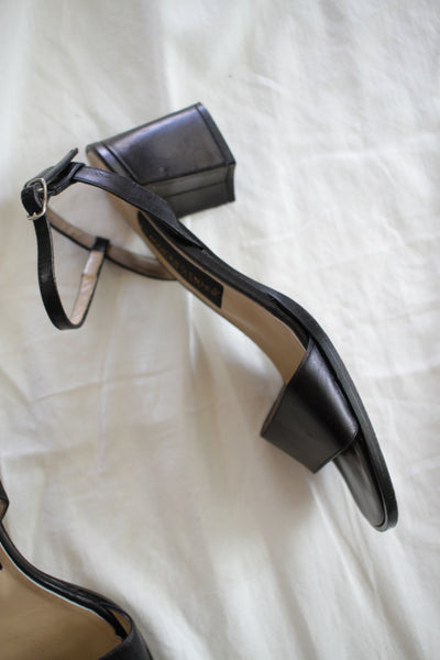 1980s Soft Leather Italian Strap Heels | 7