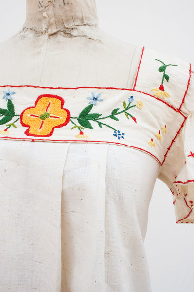 Hand Embroidered Muslin Dress