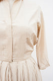 Champagne Silk Shirt Dress