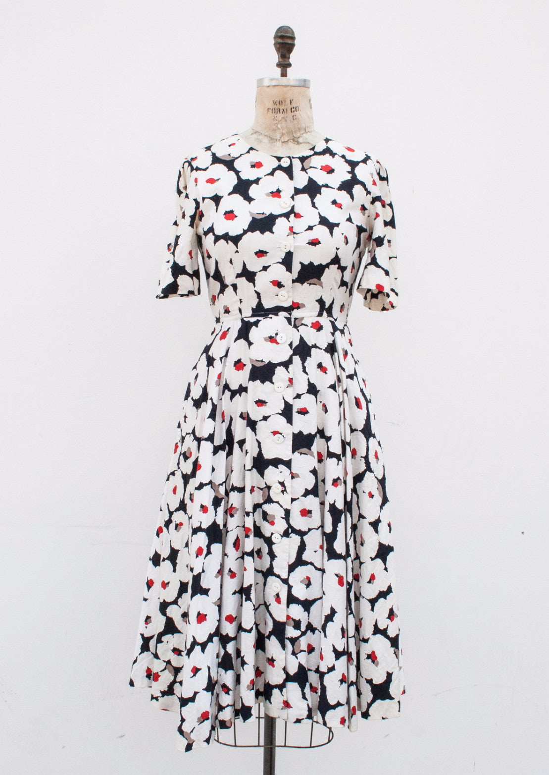 Poppy Print Cotton Dress
