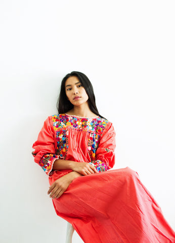 1970s Mexican Huipil Oxacan Dress