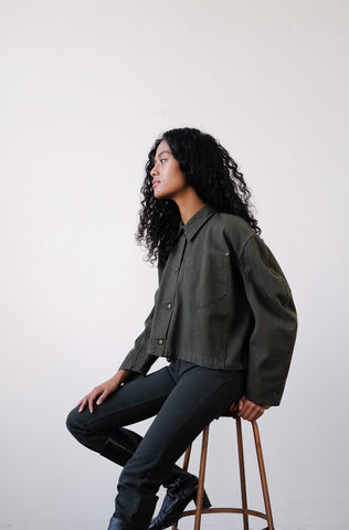 2010s Miu Miu Khaki Green Canvas Jacket