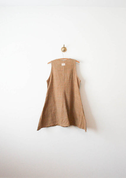 Cinnamon Woven Sleeveless Tunic Dress