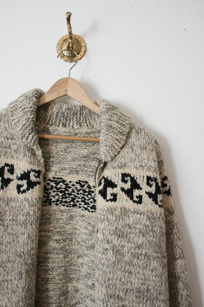 Oatmeal Cowichan Wool Sweater
