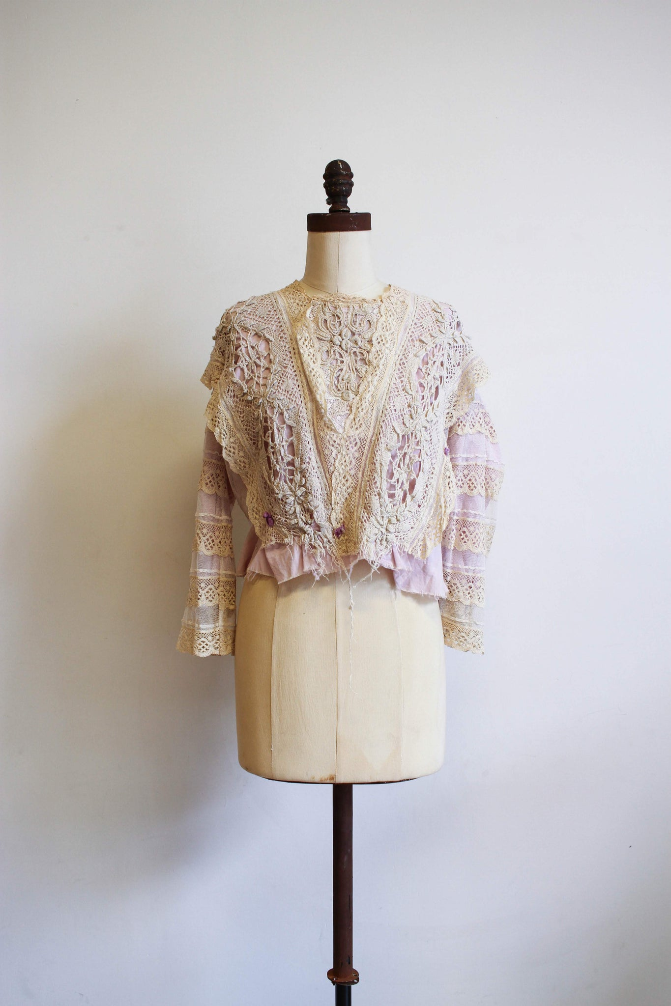 Edwardian Lilac Irish Lace Blouse