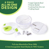 Salad Spinner by Silverflye - Large 1 gallon all-in-one salad maker with mandoline slicer and grater