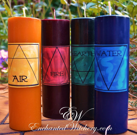 Candles of the Elements Set ~ The Watchtower Altar Candles