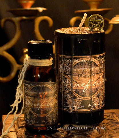 Veneficus - Candle & Ritual Oil Set - Quickly Manifest Spells & Workings Cast