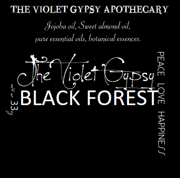 Violet Gypsy - BLACK FOREST Perfume Oil with Oakmoss, Vetivert, Pine, Amber & Patchouli.