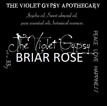 The Violet Gypsy - BRIAR ROSE Perfume Oil with Wild Rose & Oceanic Essence