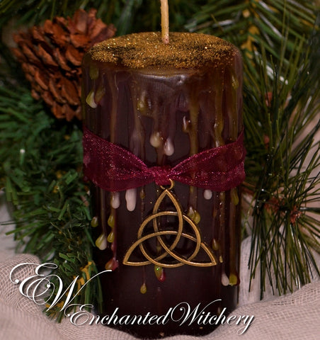 Celtic Solstice ~ A Candle of Enchantment for the Yuletide Season