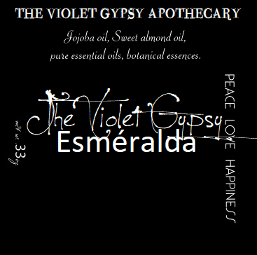 The Violet Gypsy ESMERALDA perfume oil with Violet, Jasmine & Leather